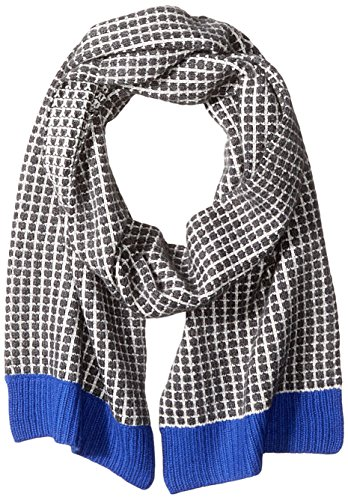 Sofia Cashmere Women's Two Color Thermal Scarf with Contrast Trim, Cobalt Combo, One Size by Sofia Cashmere
