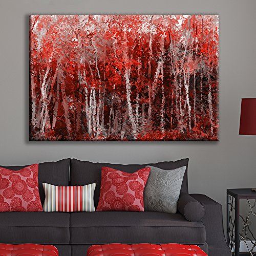 Abstract Red Forest