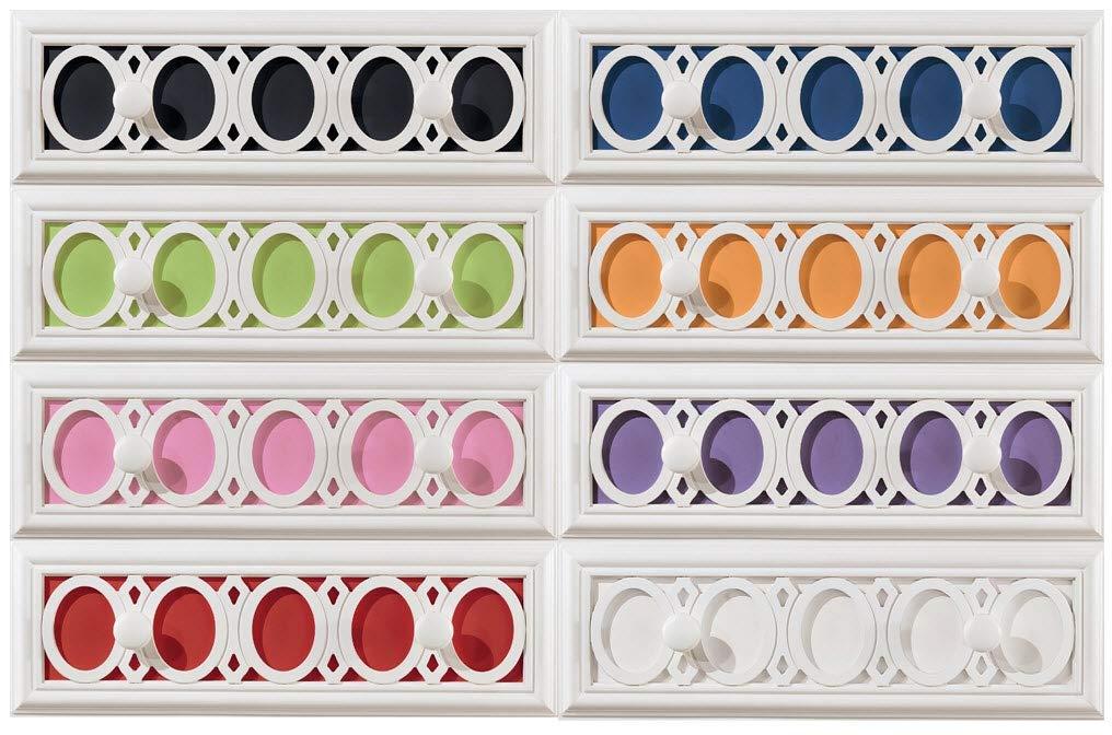 Ashley Furniture Signature Design - Zayley Chest of Drawers - 5 Drawers - Interchangable Panels - Contemporary - White by Signature Design by Ashley (Image #5)