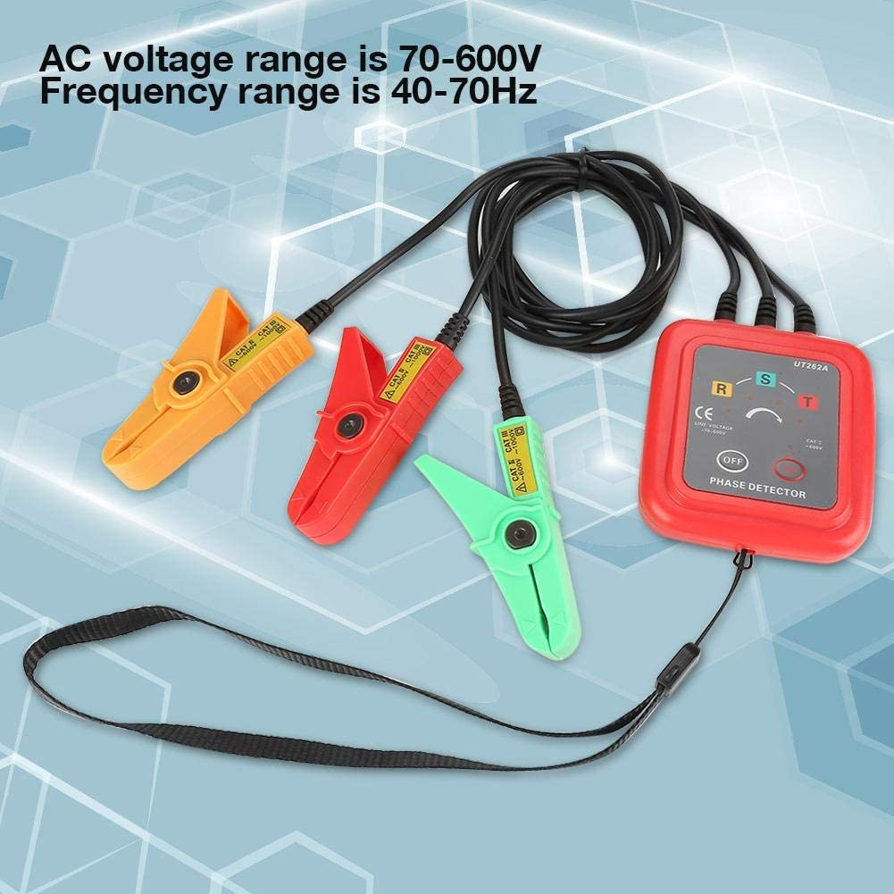 UNI-T UT262A D/étecteur de Rotation de S/équence de Phase sans Contact 70-600V D/étecteur de phase Triphas/é D/étection de Tension