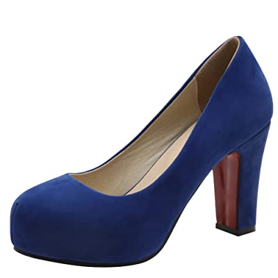 Latasa Women's Faux Suede High Heel Pumps Shoes