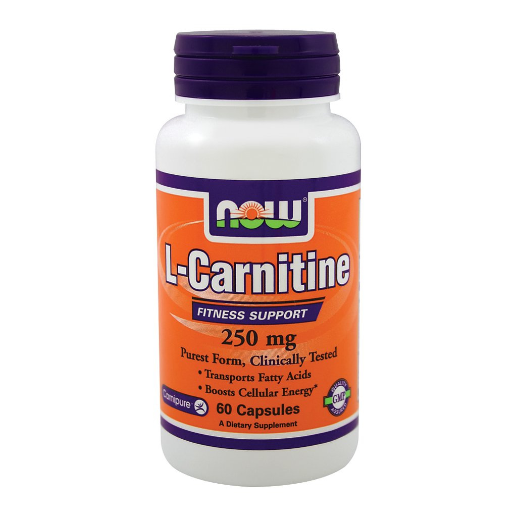 Now Foods L-Carnitine 250 mg Tartrate-L-Carnipure - 60 Caps 6 Pack