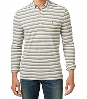 e30261201e Tommy Hilfiger Mens Vanderbilt Custom Fit Striped Polo Shirt at ...