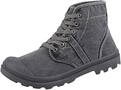 Men Canvas High Tops Military Boots