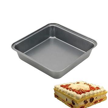 Hierro cuadrado para tartas pan molde, pastel Pan, sessert molde bandeja de horno,