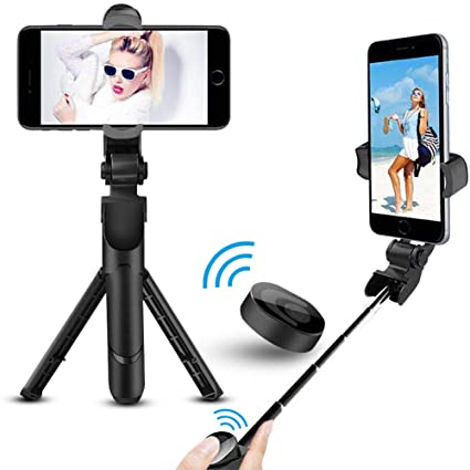 the best attitude 13618 5727a Bluetooth Selfie Stick Tripod, ANTOPM 2 in 1 Extendable Selfie Stick with  Wireless Remote & Tripod Selfie Stick for iPhone X/iPhone 8/8 Plus/iPhone  ...