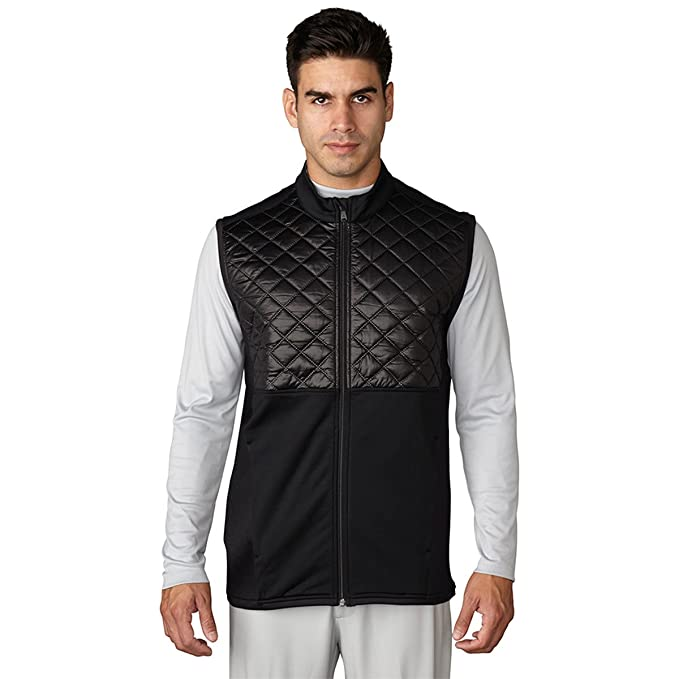 buy popular 878a3 1bfae Adidas ClimaHeat Prime Quilted Full Zip Golf Vest 2016 Black XX-Large