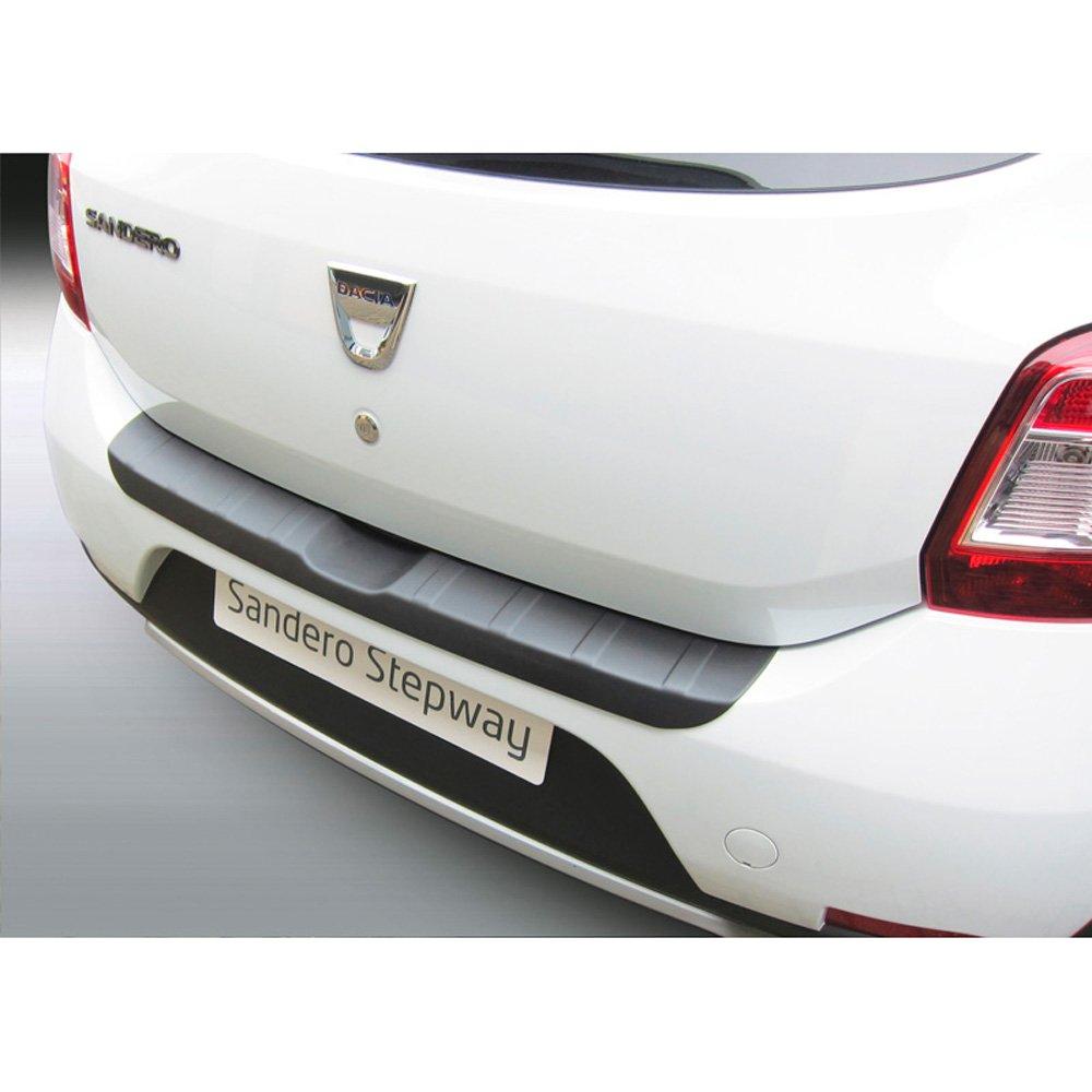 Dacia Sandero Stepway 12//2012 Ribbed Noir ABS Protection de seuil arri/ère