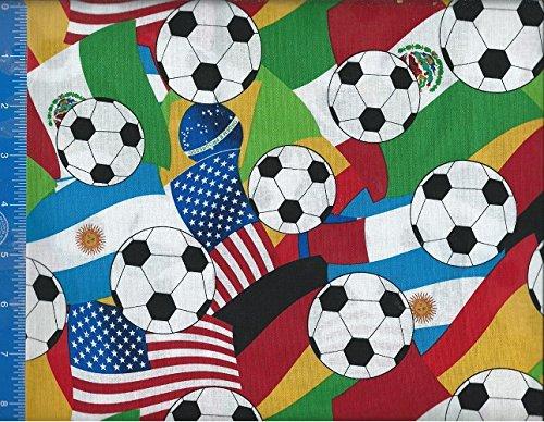 Cama para ventana y balón de fútbol de la bandera de tela, hecho a ...