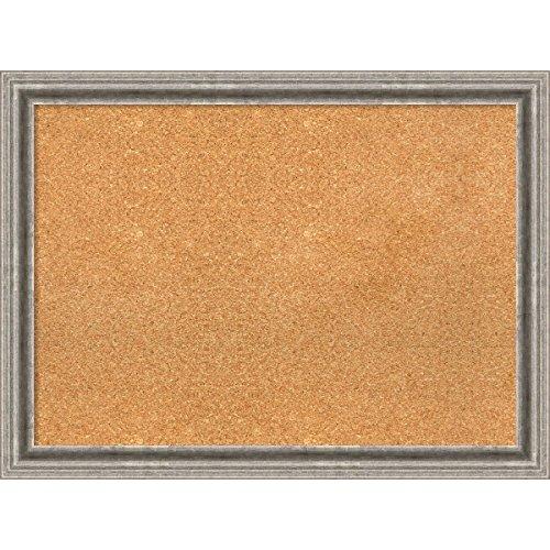 Amanti Art DSW3979274 Framed Cork Board, 31'' x 23'', Bel Volto Silver by Amanti Art