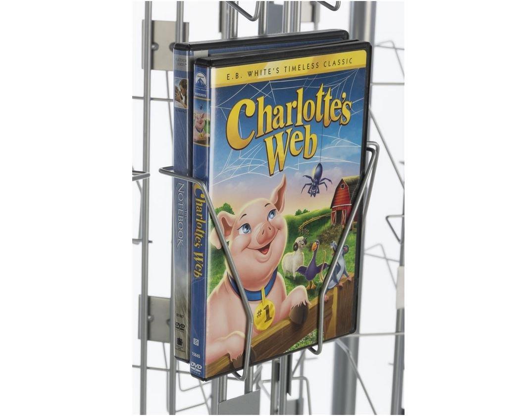 Fixture Displays DVD, CD, BlueRay, Literature, Greeting Card Postcard Rack Display High Capacity 144 Pockets 11876