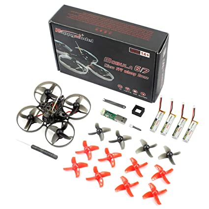 QWinOut Happymodel Mobula7 Quadcopter Indoor Four-axis 2S 75mm Brushless  Whoop Racer Drone BNF (DSM/2 DSM/X Receiver Basic Version)