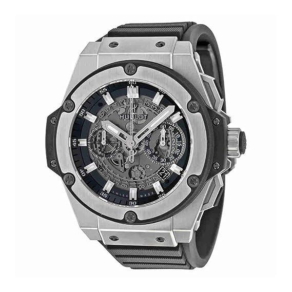 Hublot Rey potencia Unico Esqueleto Dial Titanio Mens Reloj 701. NX. 0170. RX