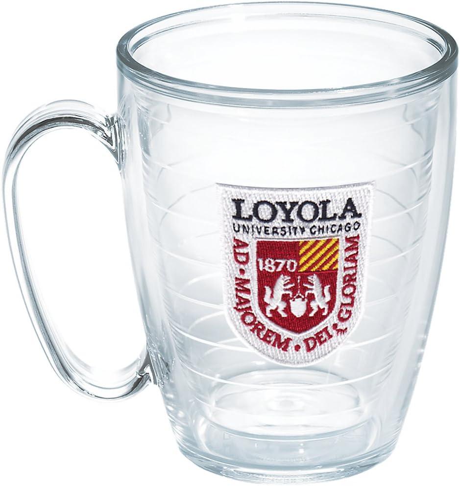 Tervis Loyola Chicago University Emblem Individual Mug, 16 oz, Clear