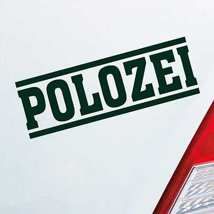 Polozei - Pegatina divertida para coche VW Polo, 15 x 5 cm ...