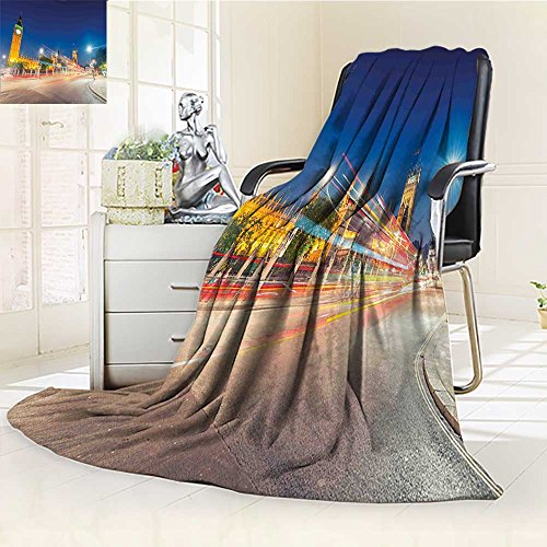 Comforter Square Union (AmaPark Digital Printing Blanket Urban Night View ofBen and Westminster Palace Parliament Square Summer Quilt Comforter)