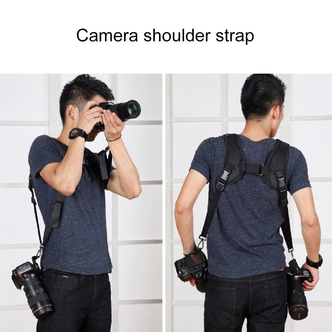 Color : Color2 Quick Release Double Shoulder Harness Soft Pad Decompression Foam Strap Belt for DSLR Digital Cameras Durable