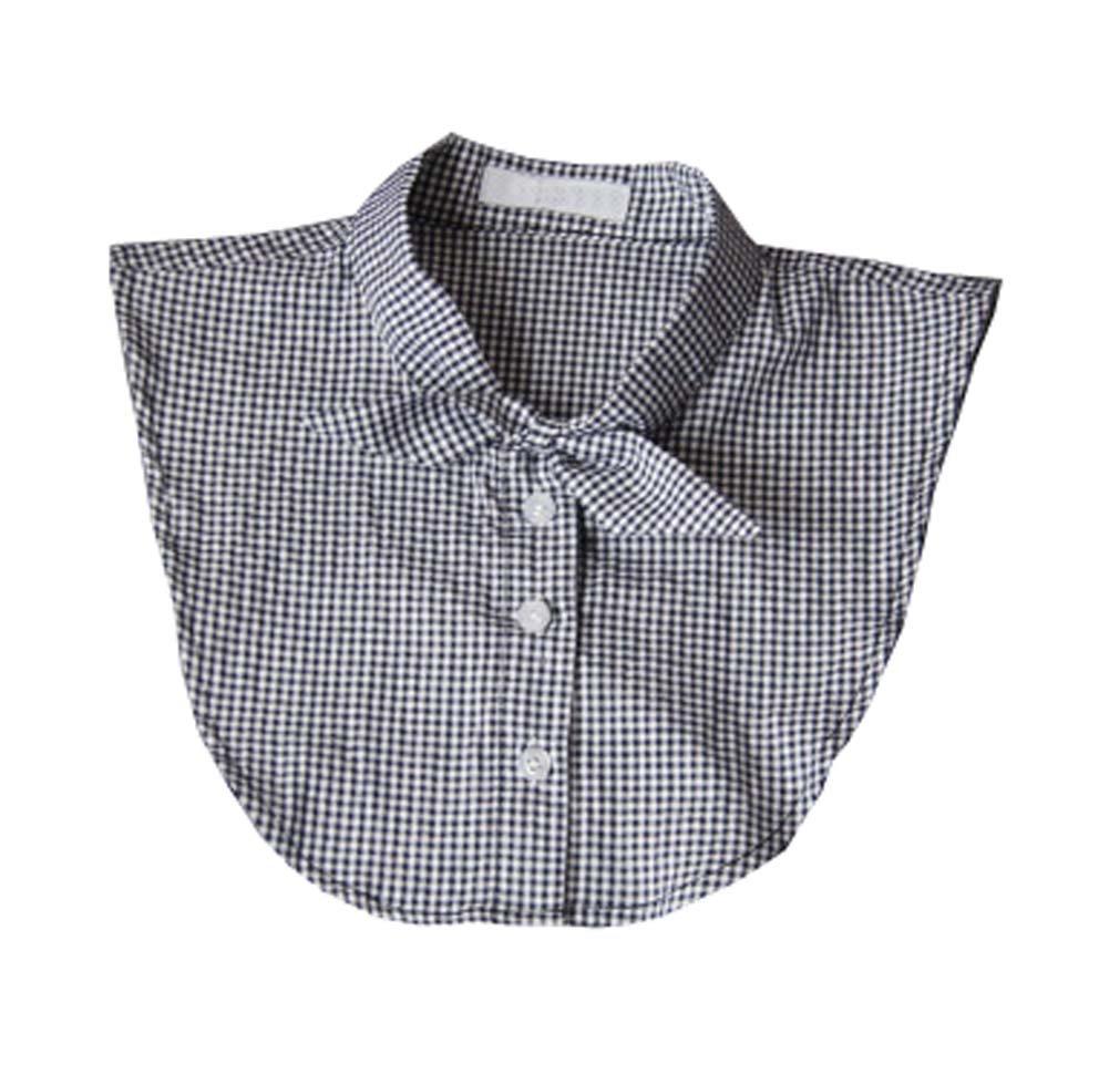 Mujeres Fake Collar medio camisa Falso Faux Detachable Collar, Bow-Tie Estilo Black Temptation
