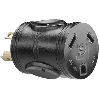 Amazon.com: PowerFit PF923055 240-volt 4-Prong Male Plug