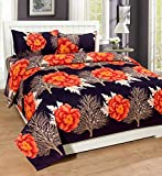 Supreme Home Collective 144 TC Microfibre Double Bedsheet with 2 Pillow Covers - Orange