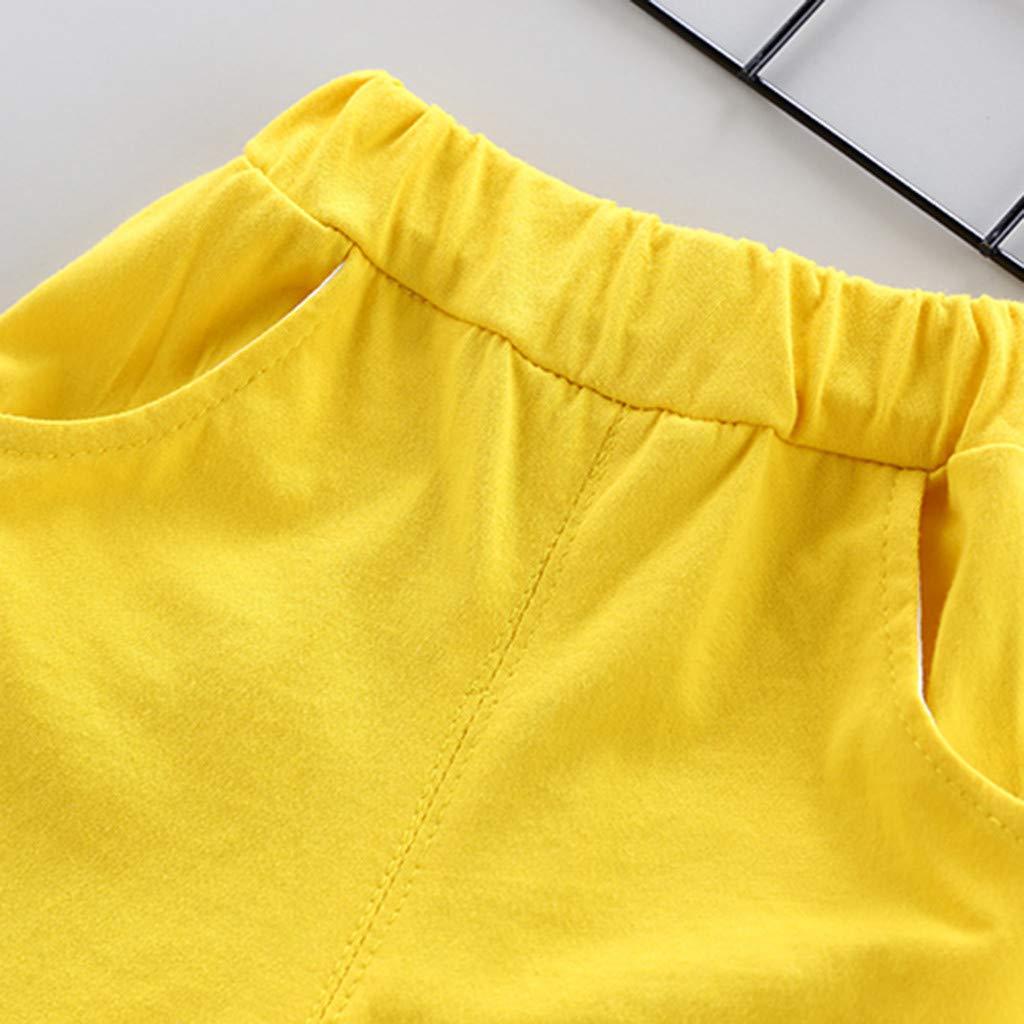 Vestiti Bambino Eleganti Maschio Estate Neonato 1 2 3 4 Anno Bimba Abbigliamento 12 24 Mesi Completino Toddler Bambino Bambini Ragazzi Striscia Lettera Tops T-Shirt Solido Pantaloni Corti Abiti Set