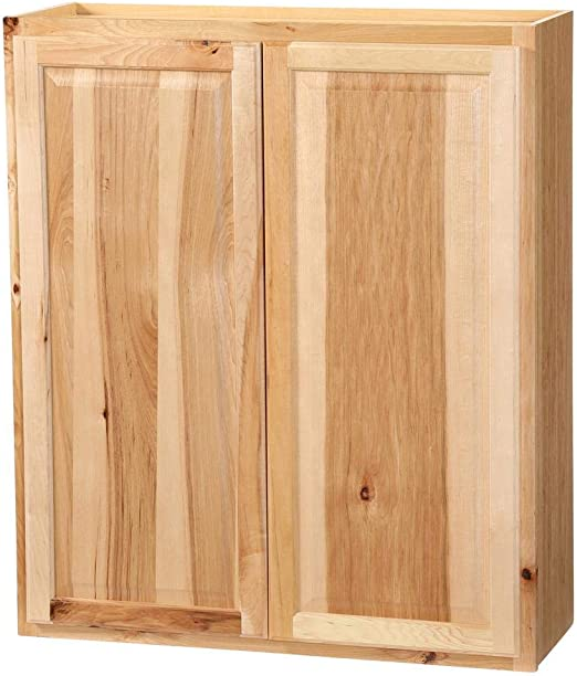 Amazon Com 36x42x12 In Hampton Wall Cabinet In Natural Hickory Kitchen Dining