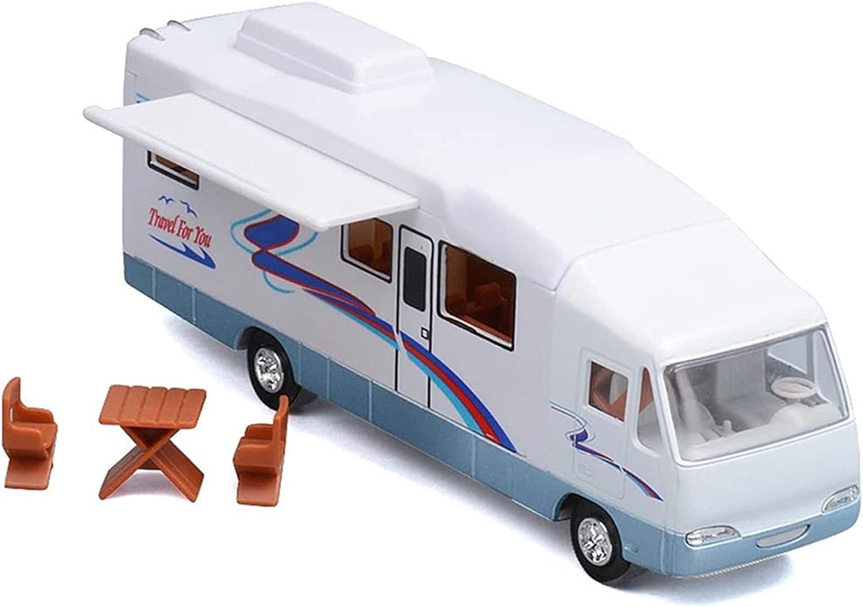 HTGUDE Educational Toy, Cool Mini Motorhome Toy Recreational Vehicle Furnitures Holiday Camper Van Model Sandbox