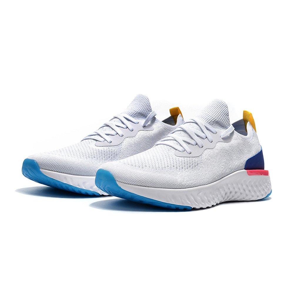 ZIGOR Running Shoes for Men Women Epic React Flyknit Sneakers B07C3GXR24 Men US 8.5 D(M) 42EU White