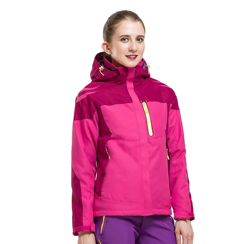 CIKRILAN Damen 3 in 1 Winddicht Wasserdicht Atmungsaktiv Mantel Outdoor Sport Klettern Camping Wandern Jacke mit Fleecejacke