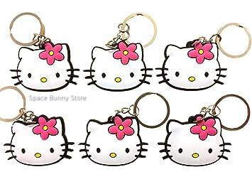 Juego de llaveros de Hello Kitty de 6 piezas de PVC con ...