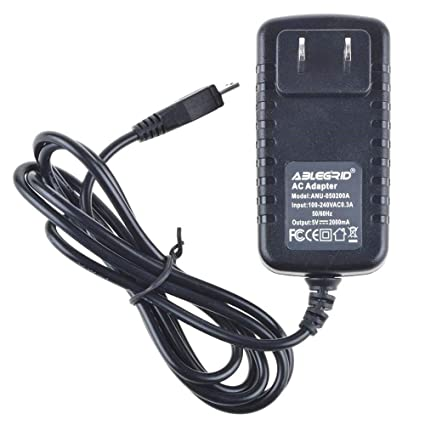 """2A AC Power Adapter DC Wall Charger Cord For RCA Voyager RCT6773W22 7/"""" Tablet PC"""