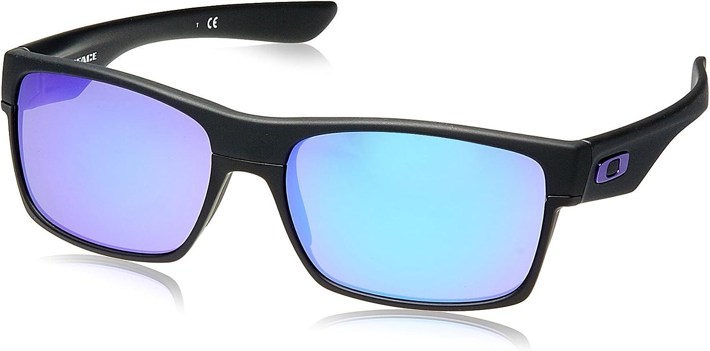 Oakley - Gafas de sol Rectangulares Twoface 9189 TWOFASE, Matte Black/Violet Iridium (S3)
