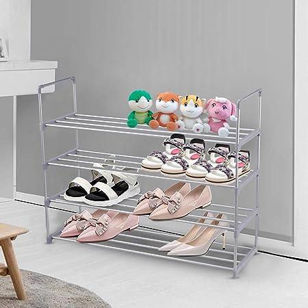 Non-Woven Fabric Shoe Shelf in Closet Entryway Hallway Living Room Double Row 5-Tier Stable Shoe Organizer 20-25 Pairs Space Saving Shoe Tower barsone Shoe Rack