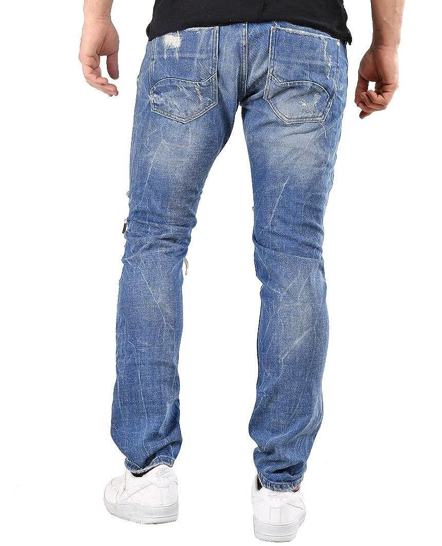 Redbridge Hommes Denim Jeans Coupe Droite Dechiré Pantalon Mode Jean   Amazon.fr  Vêtements et accessoires 1158751ccc21