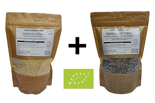 1kg Semilla de chía ecológica + 1Kg Quinoa Real ecológica] Pack ...