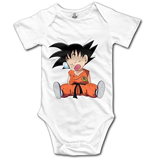 Amazon.com  Cute Cartoon Dragon Ball Z Kid Goku Newborn Baby Onesie Baby  Outfits  Clothing 706b26ea7d