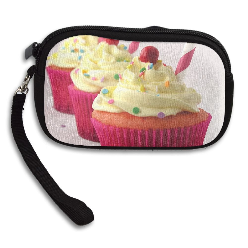 Strawberry Lemonade Cupcakes Deluxe Printing Small Purse Portable Receiving Bag