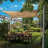 Windscreen4less Sun Shade Sail Pole Kit, Stand Post