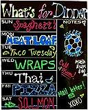 "13"" x 17"" Magnetic Dry-Erase Weekly Menu Meal Planner Whiteboard"