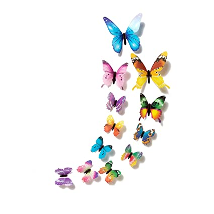 Amazon.com: Chitop Butterfly Home Deco Wall Stickers - 12 ...