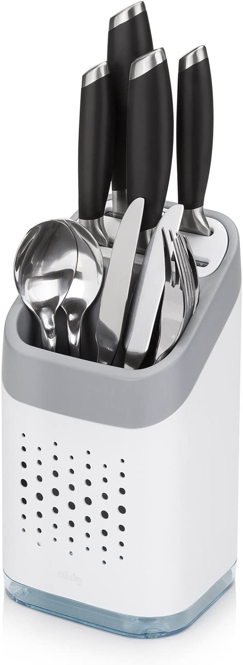 Minky Homecare Utensil Holder, White: Home & Kitchen