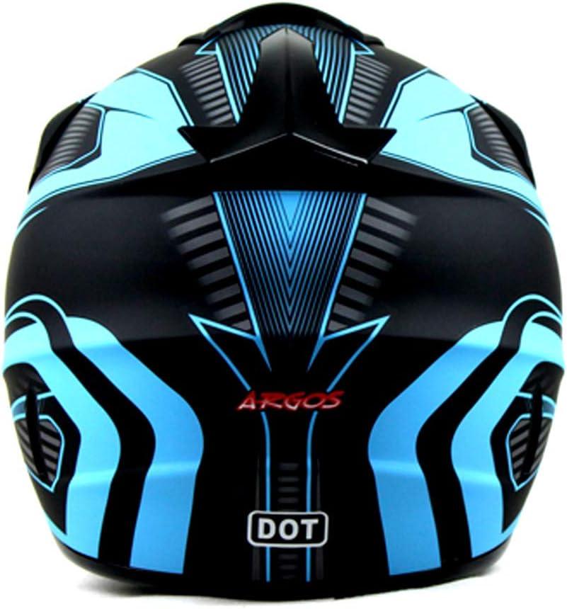Blue, Small ETIAL Dirt Bike Off-Road Motocross ATV Motorcycle Helmet for Men Women,professional competition helmet DOT Certified