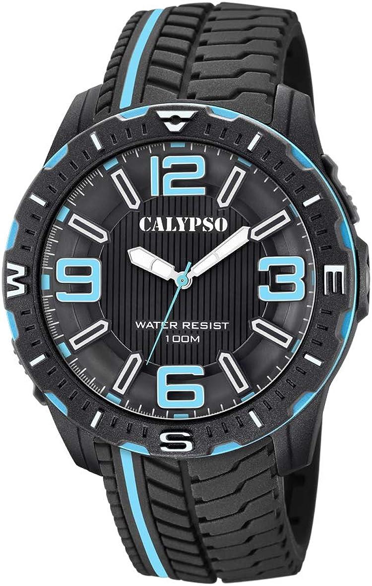 Calypso Watches Reloj Analógico para Hombre de Cuarzo con Correa en Plástico K5762/2