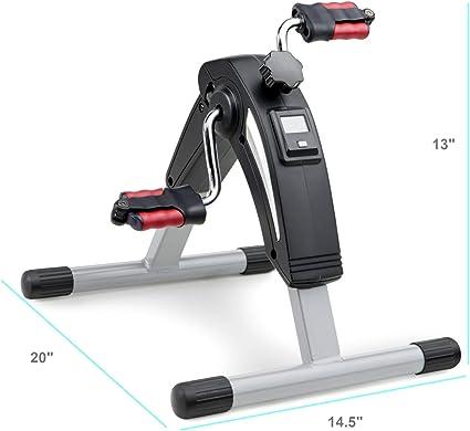 Pedal Exerciser Mini Under Desk Cycle Fitnes Cardio Peddler Bike Protect Floor