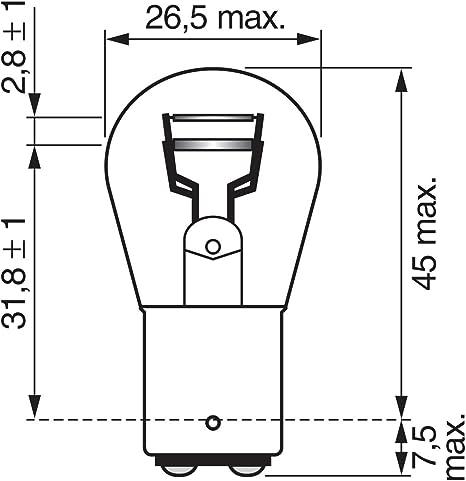 Bosch Glühlampe Für Brems Schlußlicht 1 987 302 282 Auto