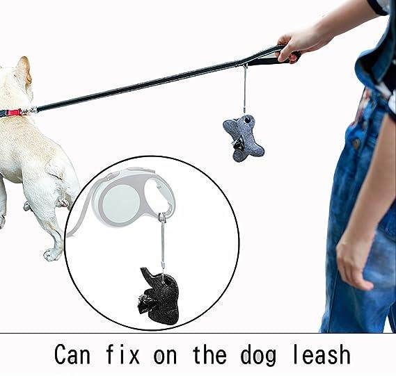 Morezi - Bolsas de Basura portátiles para Mascotas con Forma de Animal para Uso al Aire Libre, fácil de degradar, dispensador de Bolsas para Mascotas y ...