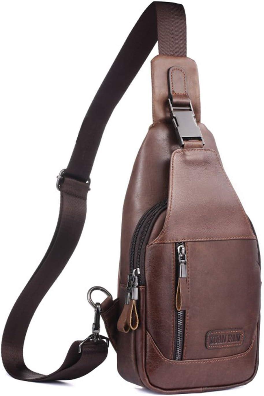 Men/'s Canvas Sling Chest Bag Travel Hiking Shoulder Messenger Crossbody Backpack