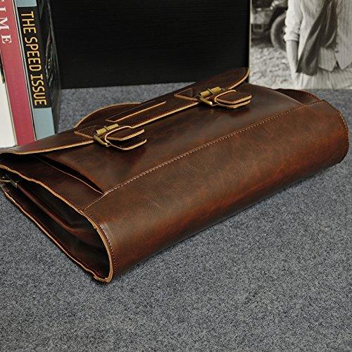 hombro marrón al NUBEN 78 para Marrón Bolso hombre RtROEqw