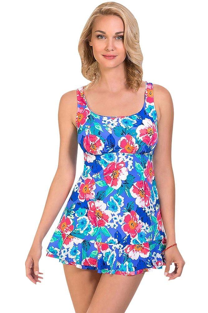 Shape Solver Penbrooke Garden Beauty Ruffle Swimdress Size 10