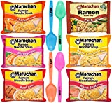 #5: Maruchan Ramen Noodle Soup Variety - 6 Flavors, Pack of 24 & Limited Edition By The Cup Spoons
